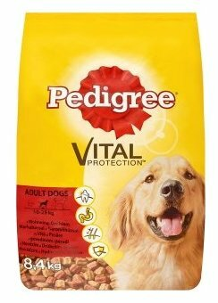 Корм для собак Pedigree для здоровья кожи и шерсти, говядина, птица (для средних пород)