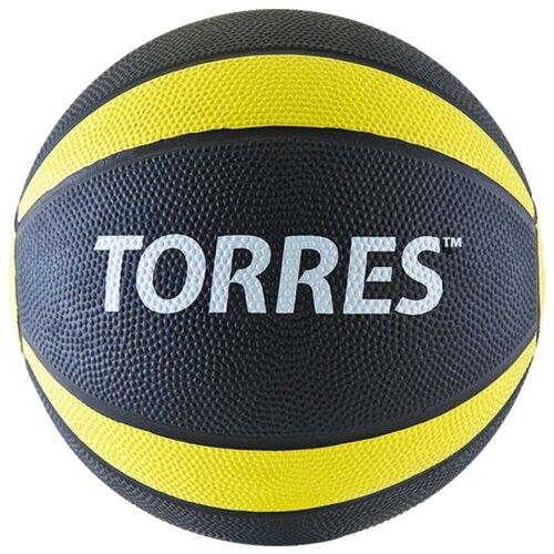 Медбол TORRES AL00221, 1 кг черный/желтый/белый медбол start up nt40320 1 кг черный желтый