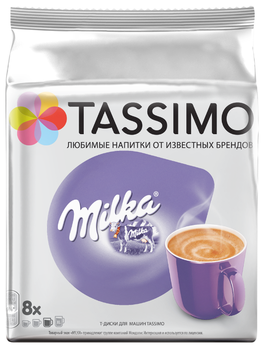 Какао в капсулах Milka (8 шт.)