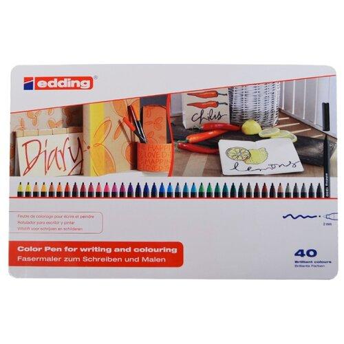 Edding Фломастеры 2 мм, 40 шт. (1300) разноцветные edding фломастеры 15 funtastics 1 мм 12 шт разноцветные