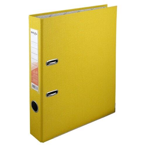 Купить Delta by Axent Папка-регистратор A4 с односторонним покрытием, 5cм желтый, Файлы и папки