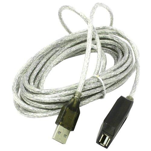 Удлинитель VCOM USB - USB (VUS7049) 5 м прозрачный