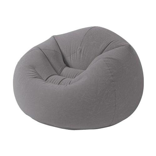 Надувное кресло Intex Beanless Bag Chair серый