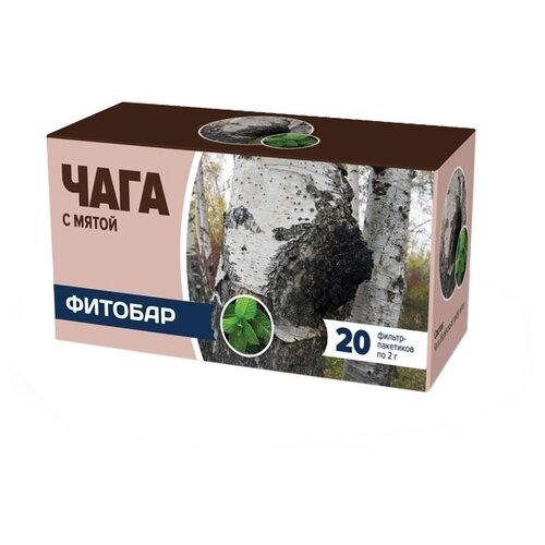 Чайный напиток травяной Соик Фитобар №33 Чага с мятой в пакетиках, 20 шт.