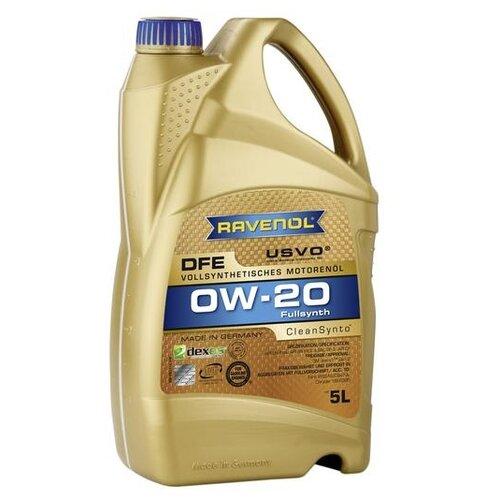 Синтетическое моторное масло Ravenol DFE SAE 0W-20 5 л моторное масло ravenol super synthetik öl ssl sae 0w 40 5 л