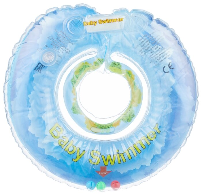 Круг на шею Baby Swimmer Флора 0m+ (6-36 кг) с погремушкой