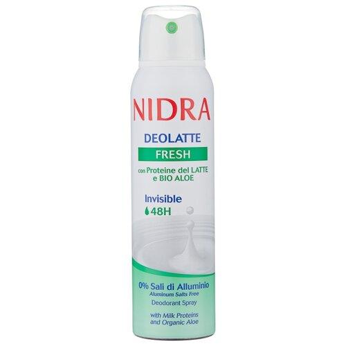 Дезодорант спрей Nidra Deolatte Fresh с молочными протеинами и экстрактом алоэ, 150 мл