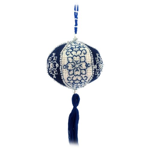 Купить ZENGANA Набор для вышивания бисером и нитками Новогодний фонарик 8 х 7 см (М-053), Наборы для вышивания