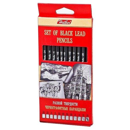Hatber набор чернографитных карандашей разной твердости (BHg_12080)Карандаши<br>