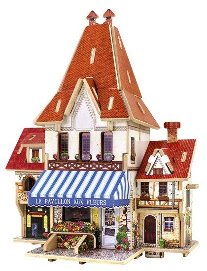 Пазл Robotime Французский цветочный магазин (F126), 44 дет.