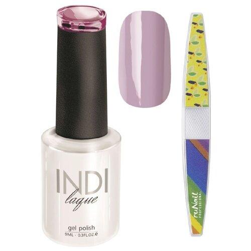 Набор для маникюра Runail пилка для ногтей и гель-лак INDI laque, оттенок 3348 набор для нейл арта пилка для ногтей runail professional гель лак indi laque тон 3708 9 мл