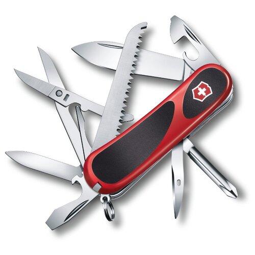 Нож многофункциональный VICTORINOX EvoGrip 18 (15 функций) красный/черный швейцарский нож victorinox hercules 0 9043 111 мм 18 функций красный