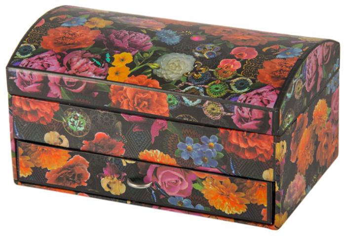 Русские подарки Шкатулка 88252 оранжевый/черный/розовый