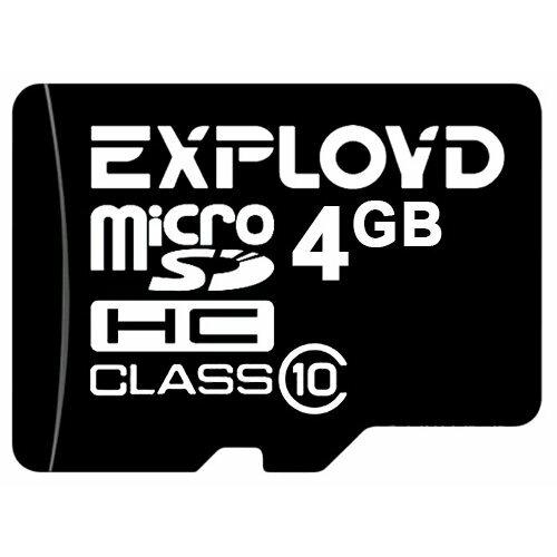 Карта памяти EXPLOYD microSDHC Class 10 4 GB