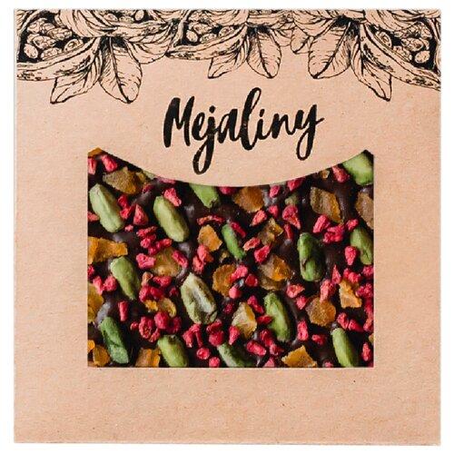 Шоколад Mejaliny темный с фисташкой, курагой и малиной, 62%, 80 г