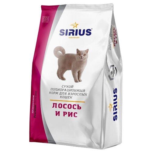 Сухой корм для кошек Sirius с лососем 400 г