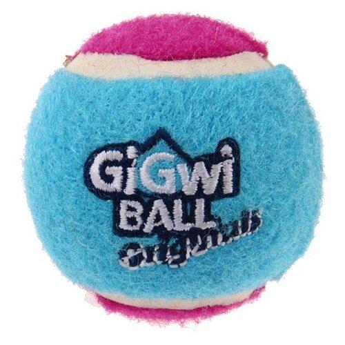 Мячик для собак GiGwi GiGwi ball Original маленький 3 шт (75339) голубой/красный/фиолетовый