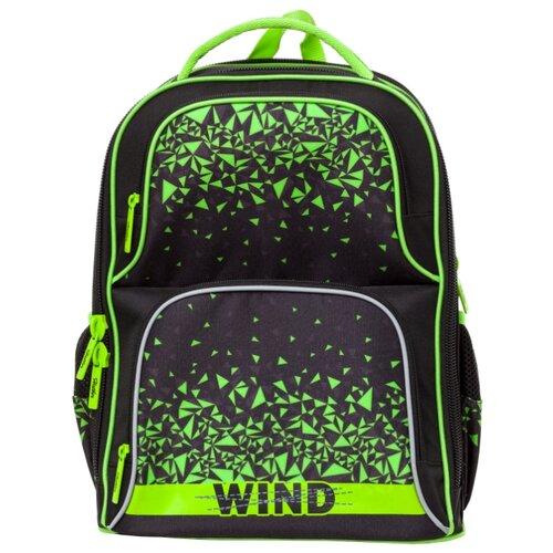 Купить Hatber Рюкзак Comfort Wind (NRk_24058), черный/зеленый, Рюкзаки, ранцы