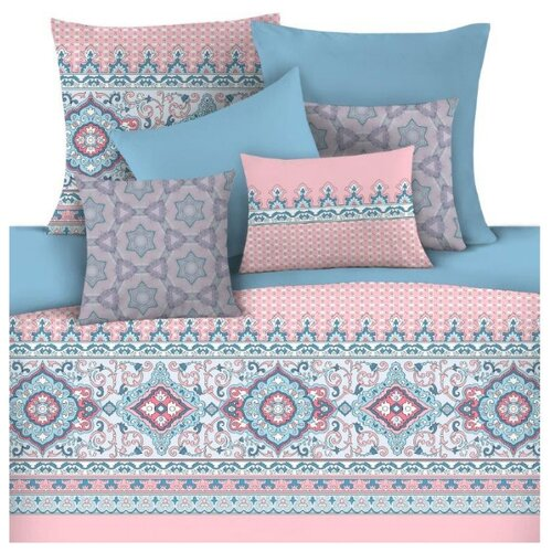 Постельное белье 1.5-спальное Mona Liza Aicha 50 х 70 см сатин голубой / розовый детское постельное белье mona liza детское постельное белье тэдди с подарком цвет голубой 145х210 см