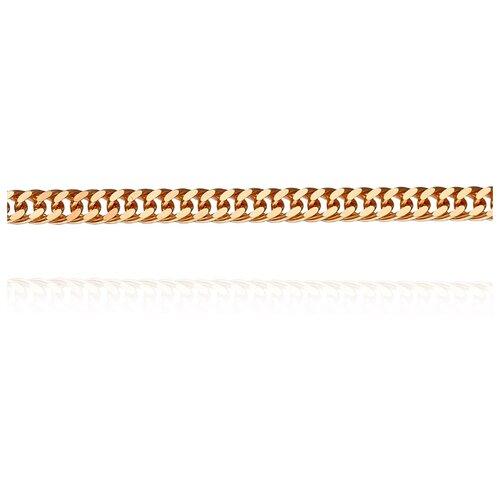 АДАМАС Цепь из золота плетения Панцирь одинарный ЦП235А2-А51, 50 см, 4.13 г