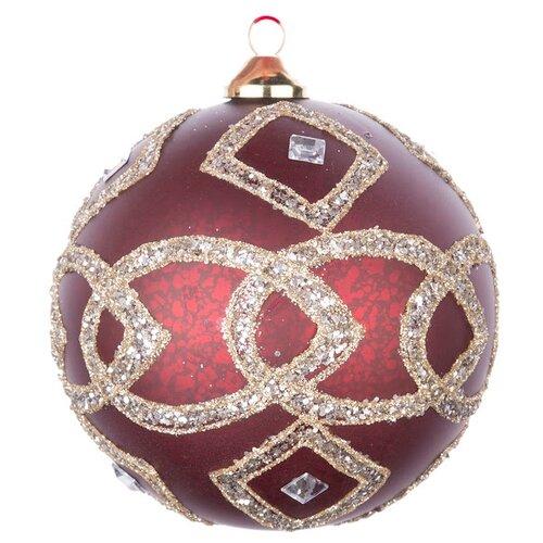 Набор шаров KARLSBACH 07314, темно-бордовый/золотой