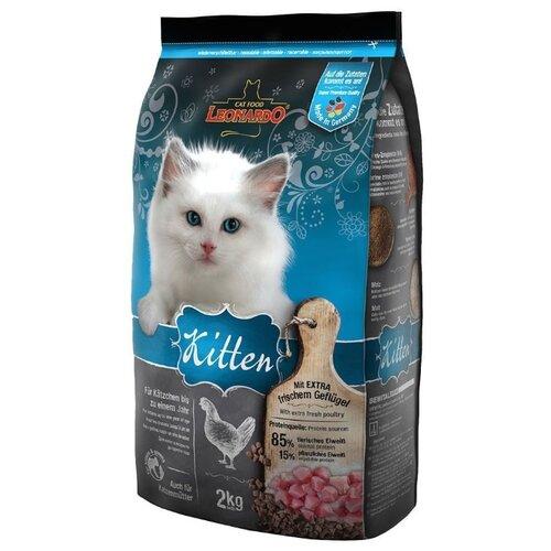 Корм для кошек Leonardo Kitten на основе Курицы (2 кг) три курицы на плющихе