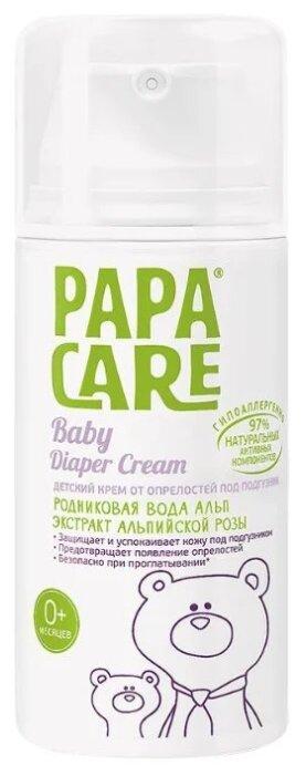 Papa Care Детский крем от опрелостей под подгузник с экстрактом альпийской розы (флакон с дозатором)