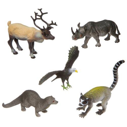 Фигурки BONDIBON Ребятам о зверятах - Дикие животные BB3139 bondibon ребятам о зверятах дикие животные вв3136