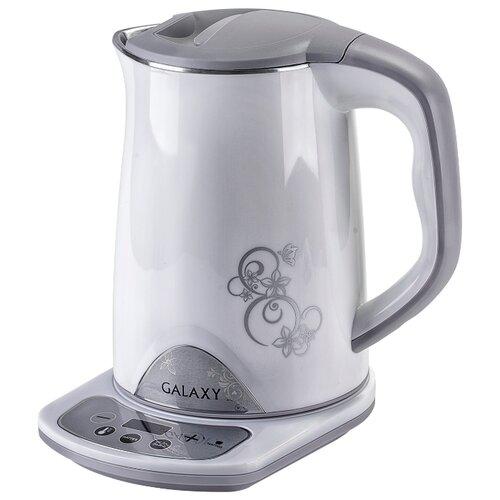 Чайник Galaxy GL0340, белый/серый чайник galaxy gl0301 белый