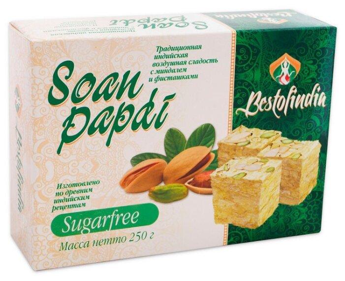 Халва Bestofindia Soan Papdi Sugarfree c миндалем и фисташками 250 г