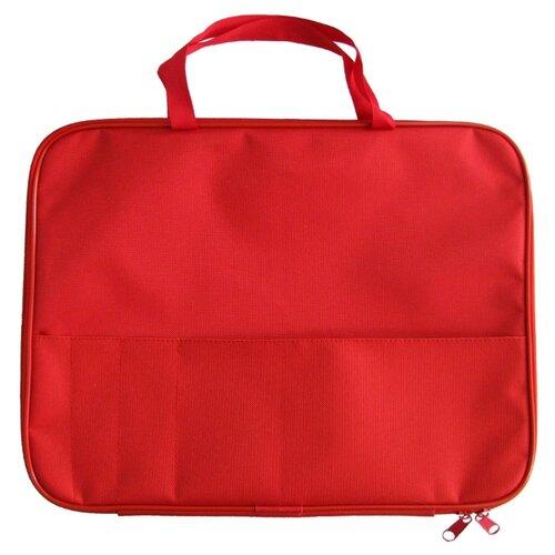 Купить Prof-Press Папка менеджера с карманом А4 красная, Файлы и папки