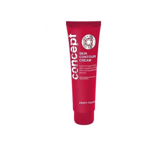 Concept Контурный крем для защиты кожи при окрашивании волос для кожи головы, 100 мл крем для кожи головы