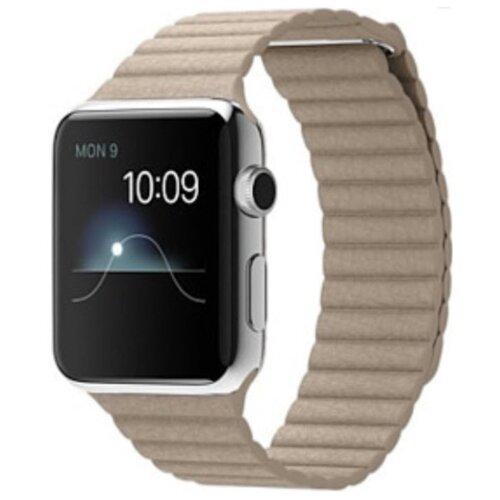 Karmaso Ремешок для Apple Watch 42 мм кожаный бежевыйРемешки для умных часов<br>