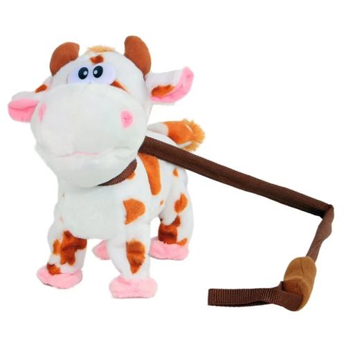 Фото - Мягкая игрушка Пушистые друзья Корова на жестком поводке 25 см кмит елена пушистые друзья барашек бяша