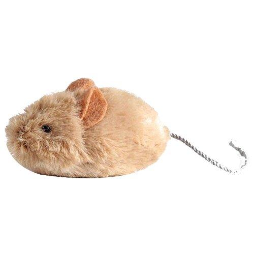 Игрушка для кошек GiGwi Cat Toys Мышка со звуковым чипом (75217) бежевый