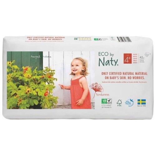 Купить Naty подгузники Eco 4+ (9-20 кг) 42 шт., Подгузники