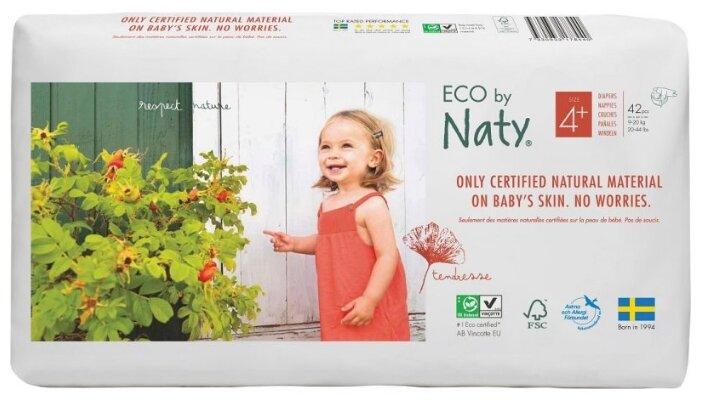 Naty подгузники Eco 4+ (9-20 кг) 42 шт.
