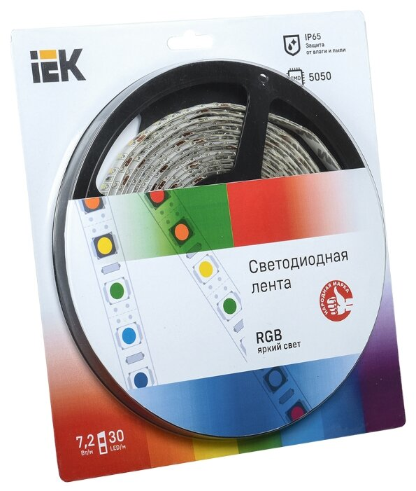 Светодиодная лента IEK LED LSR-5050RGB30-7.2-IP65-12V 5 м