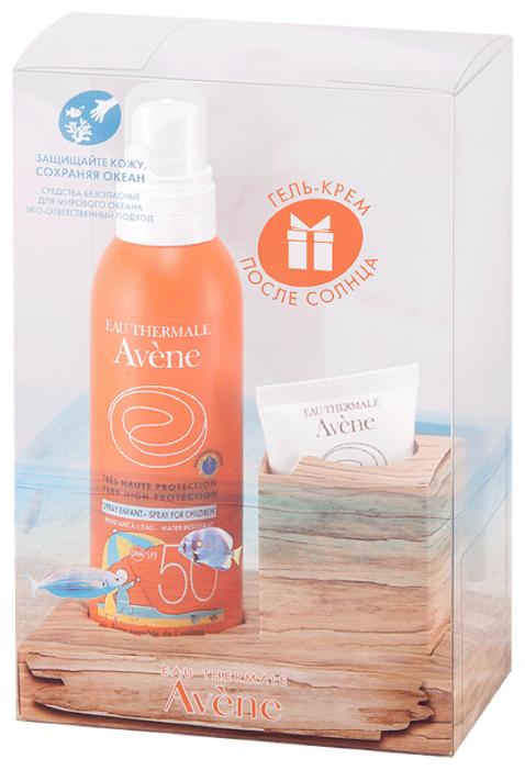 Набор: AVENE Солнцезащитный спрей SPF 50+, 200 мл + AVENE Крем-гель восстанавливающий после солнца, 50 мл в подарок