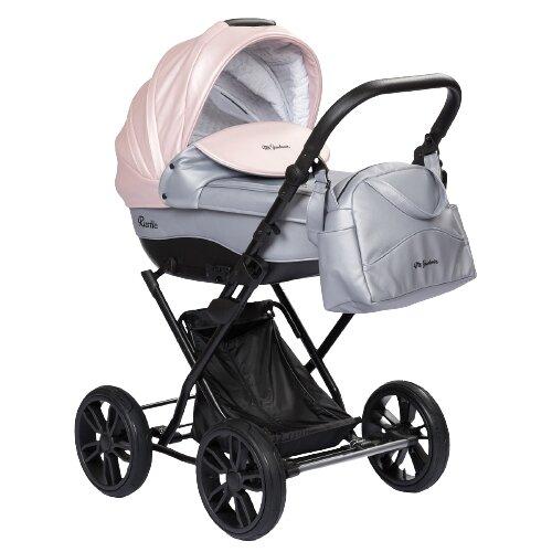Купить Коляска для новорожденных Mr Sandman Rustle 14 серый металлик/розовый металлик, Коляски
