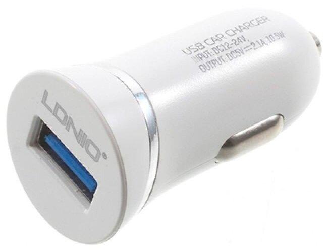 Автомобильная зарядка LDNIO DL-C12 + Micro USB