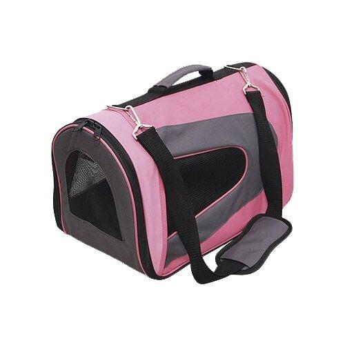 Сумка-переноска для собак GiGwi Pet Travel 75215 46х26х27 см розовый