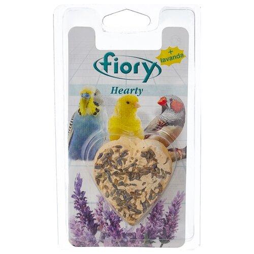 Лакомство для птиц Fiory Hearty в форме сердца с лавандой 45 г