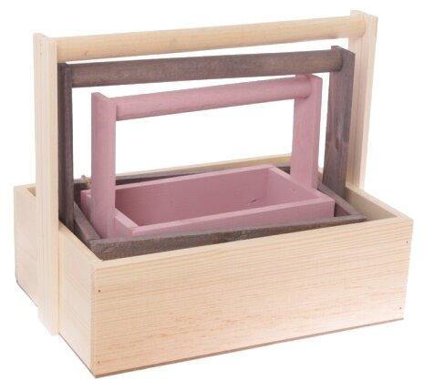 Ящик Дарите счастье набор 3 в 1 с шильдиком и ручкой Счастье есть 31,5×21,5×26 см
