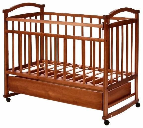 Кроватка Антел Ульяна-3 (колесо, качалка + ящик)