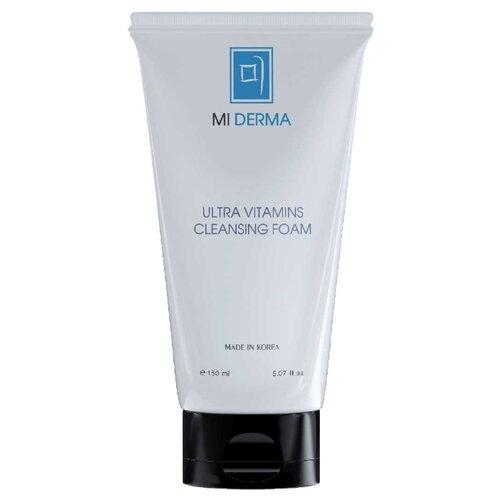 Mi Derma очищающая витаминизированная пенка для лица, 150 мл очищающая щеточка для лица medisana fb 880