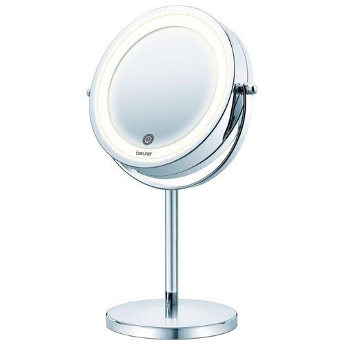 Зеркало косметическое настольное Beurer BS55 с подсветкой серебристый