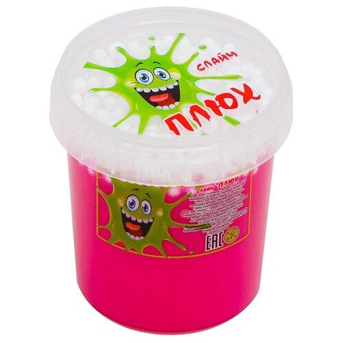 Лизун Плюх с шариками в тубе розовый