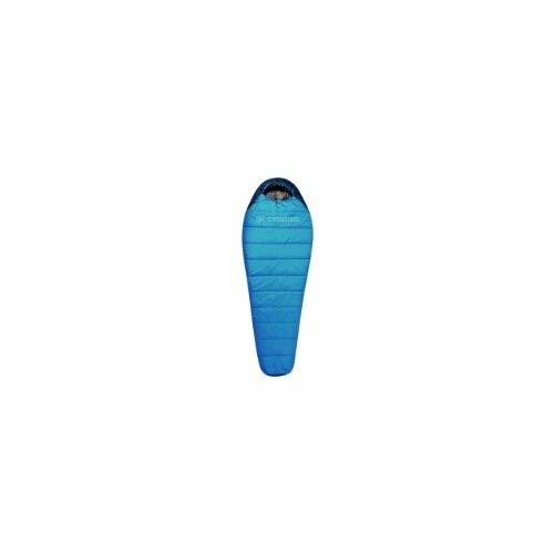 Спальный мешок TRIMM Sporty 195 sea blue/mid blue с левой стороны