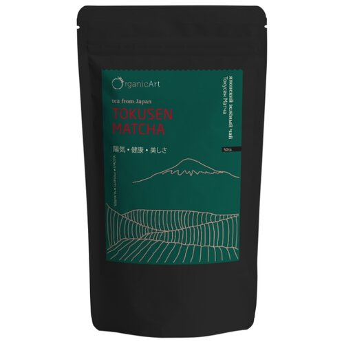 Чай зелёный Organic Art Tokusen matcha, 50 г чай зелёный organic art kokeicha 50 г